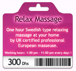 Relaxing massage at your home by certified professional European masseuse.